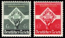 EBS Germany 1935 Reich Athletic Competition Berufswettkampf Michel 571-572 MH*