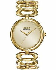 Citizen Eco-Drive EM0222-58P Gold Tone Stainless Steel Women's Bracelet Watch