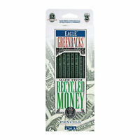 Berol Eagle Greenbacks Wood Case Recycled Money Wooden Pencils, No. 2, 12-Count