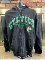 Boston Celtics NBA Basketball Full Zip Hooded Hoodie Sweatshirt Mens Size Large