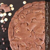 "10"" Giant Cookie, Triple Chocolate Flavour, Free Personalising & Delivery"