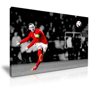 Man United WAYNE ROONEY Footballer Goal Canvas Modern Home Art Print ~ 5 Size