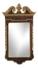 31406Ec: Georgian Style Walnut & Gold Trim Italian Mirror