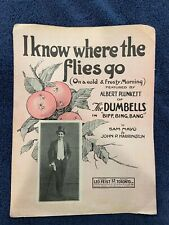Sheet Music: I KNOW WHERE THE FLIES GO (On a Cold & Frosty Morning) – 1921