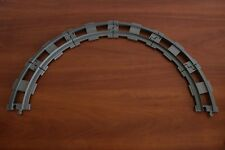 Lego Duplo Eisenbahn Train Set 2735-1 Curved Rails 6x Dark ( Old ) Gray Color