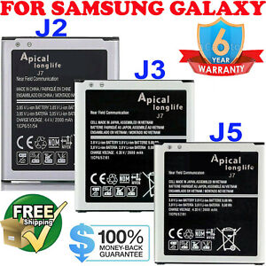 For Samsung Galaxy J2 J3 J5 J7 Original OEM Cell Phone Battery Replacement New