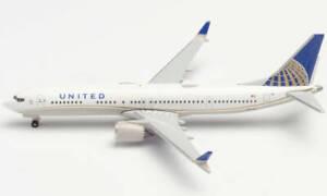 Herpa Wings 533416 United Airlines Boeing 737MAX9 1/500 Scale Diecast Model