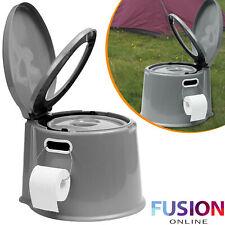 5L Portable Toilet Camping Caravan Picnic Fishing Festivals Compact Potty Loo