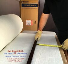 "Kaowool Thermal Ceramics Fiber Insulation Blanket 1/2""x12""x24"" 8# Muffler Stove"