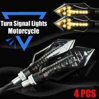 4 Stück LED Mini Blinker MicroBlinker Schwarz getönt Motorrad Quad ATV Roller