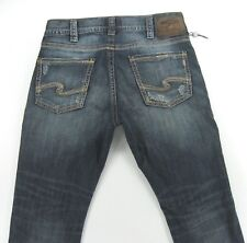 SILVER men's jeans  ALLAN Classic Slim Fit DISTRESSED  size 32 / inseam 29