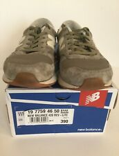RRP £70 NEW BALANCE 420 REV-LITE TRAINERS SNEAKERS KHAKI SUEDE SIZE 6 WITH BOX