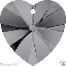 Swarovski 6228 xilion coeur 18mm pendentif cristal silver night