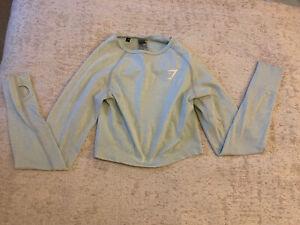 GYMSHARK Vital Seamless Long Sleeve Crop Top Size XS