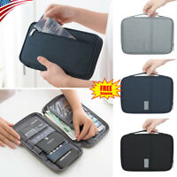 RFID Blocking Passport Cover Protector ID Name Card Case Security Travel Wallet