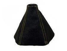 OPEL ASTRA H (2004-2010) Cuffia Leva Cambio 100% Vera Pelle  -Cuciture Giallo