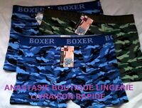 lingerielot 3 boxers M sousvetement homme/garçon coton95%slipcaleçonscamouflage