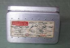 Vintage Perrine Fly Fishing Metal Tackle Box Aluminum #96