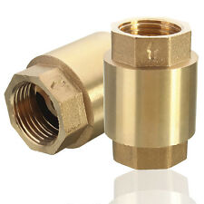 1/2'' NPT Brass In-Line Spring Vertical Check Valve Copper Control Tool 200WOG