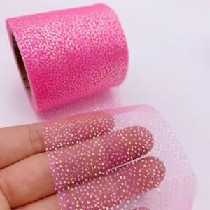 5 yards 60mm Glitter Sequin Organza Stain Ribbon Christmas DIY Hairbow Crafts