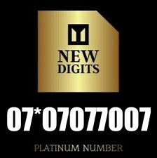 GOLD VIP DIAMOND PLATINUM BUSINESS MOBILE PHONE NUMBER SIM CARD 07*07 077 007