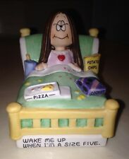 "Vintage 1982 Cathy Figurine ""Wake Me Up When I'm A Size Five"" Hard To Find EUC"