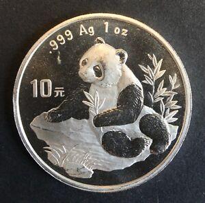 China - Silver 10 Yuan Coin - 1 Oz. - 'Chinese Panda' - 1998 - Proof