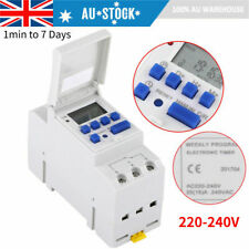 AC 220v Digital LCD Power Programmable DIN Rail Timer Time Switch Relay AU Stock