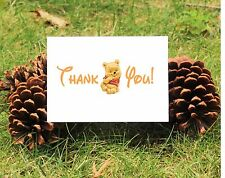 Set of 10 Winnie the Pooh Thank You Cards Perfect For Baby Shower or Birthday