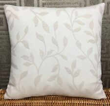 "John Lewis Leaf Trail Fabric Cushion Cover 20""x20"" Natural Double Sided."