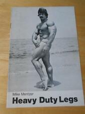 Vintage Original Mike Mentzer HEAVY DUTY LEGS bodybuilding muscle booklet