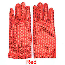 Kid Boys Girls Shining Sequin Sequined Glitter Dance Party Fancy Costume Glove3c Red