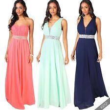 Polyester V Neck Patternless Ballgowns for Women