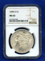 1898 O NGC MS62 Morgan Silver Dollar $1 Better Date 1898-O NGC MS-62