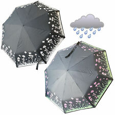 Compact Umbrella Colour Changing Fun Small Men Women Gift Present Flowers New