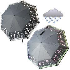 Parapluie compact couleur changeante fun petits hommes femmes cadeau coeurs