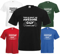 Awesome Guy T Shirt Fathers Day Gift Xmas Present Cool Birthday Tee Funny Friend