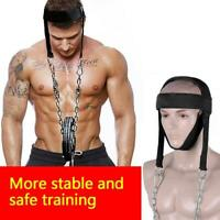 WEIGHT LIFTING HEAD NECK STRENGHT HARNESS STRAP EXERCISE FITNESS DURABLE