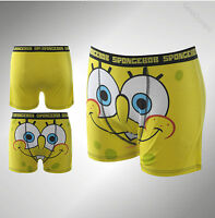 Mens Branded Character Underwear Spongebob Single Boxer Shorts Size S M L XL XXL