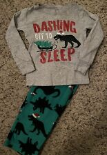 Unisex Carters Dino Christmas Pajamas Set, 2T Fleece Pjs