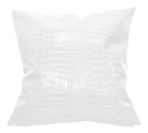 pd1012a Ivory-White Cream Faux Crocodile Glossy Leather Cushion Cover Custom Siz