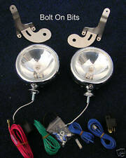 2 Stainless Spot light kit BMW New Mini 2001 to 2006 inc Brackets & Wiring
