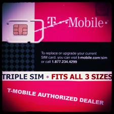 T-MOBILE Triple SIM Card MINI + MICRO + NANO • GSM 4GLTE • NEW Genuine OEM
