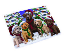 Chesapeake Bay Retriever Dog Christmas Family Tempered Cutting Board Large Db1