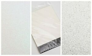 White Glitter Card A4 Sheet Or Sample Low Shed Cardstock 250gsm Arts & Craft