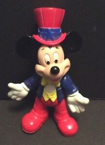 Disney Mickey Mouse Red Top Hat Epcot Center Toy Play Action Figure