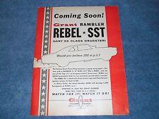 "1967 Grant Piston Rings Vintage Ad ""Coming Soon"" Rambler Rebel SST Funny Car"