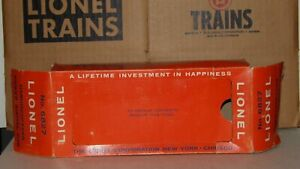 LIONEL # 6827 CRANE CAR OUTER PERFORATED BOX C-8