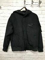Quicksilver black hooded winter coat label size large