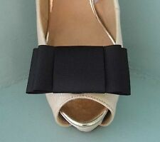 2 Black Large Double Bow Clips for Shoes - other colours on request